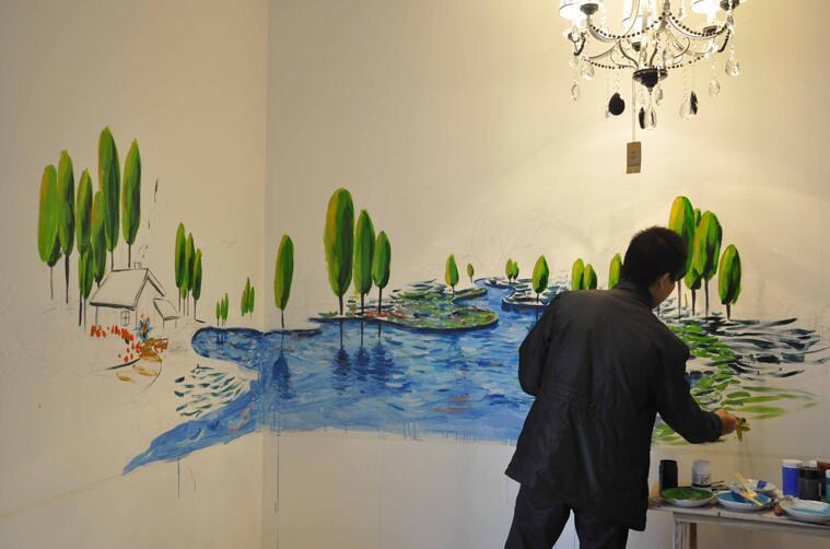 赣州手绘墙画的装饰美