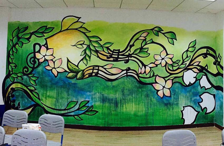 丙烯颜料墙绘