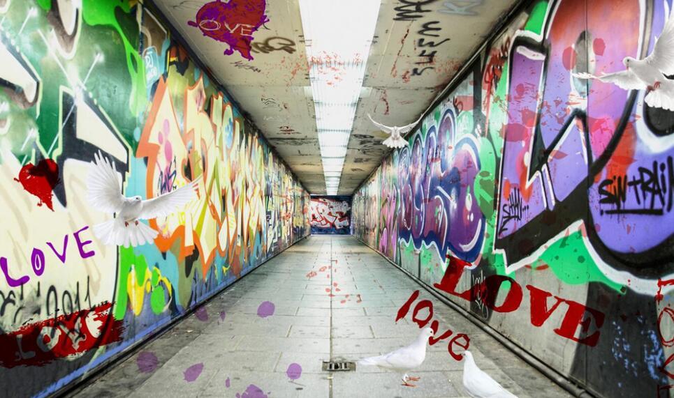 宿舍走廊墙绘主题素材