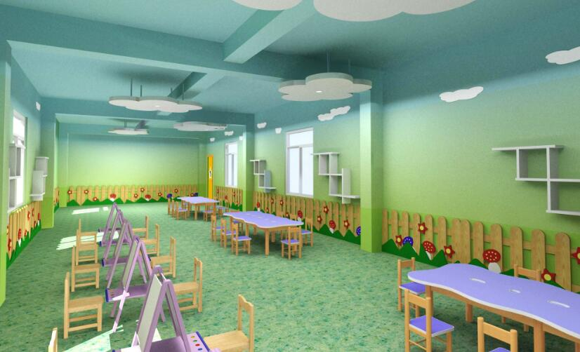 幼儿园午休宿舍走廊墙绘