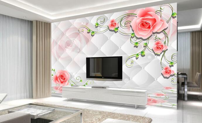 镜面装饰背景墙绘的三种搭配方式