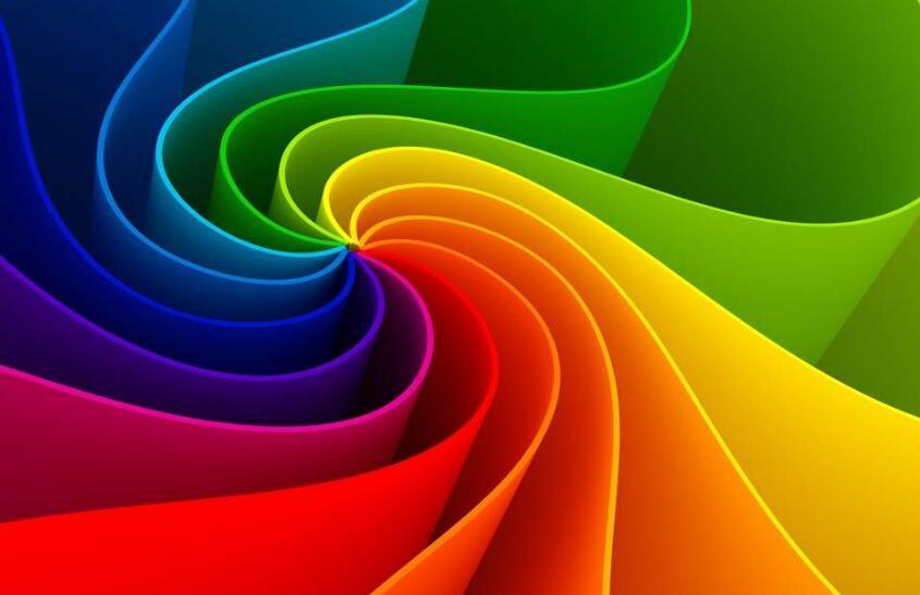 色彩对比构成