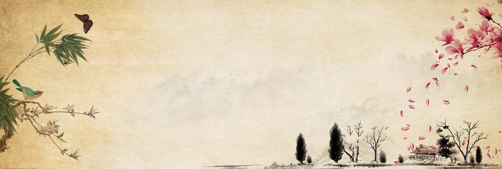 复古风古典手绘背景图