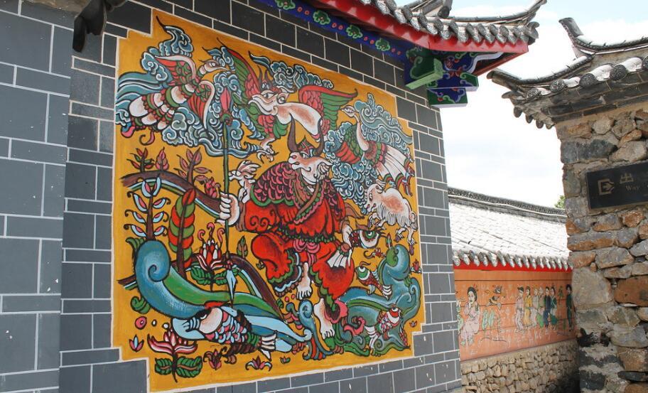 庙宇古典墙绘图片素材展示