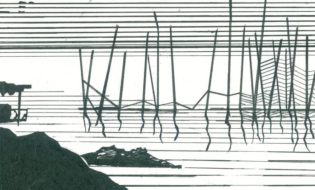 点线面墙绘设计效果图