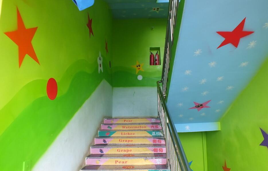 幼儿园室内楼梯墙绘素材