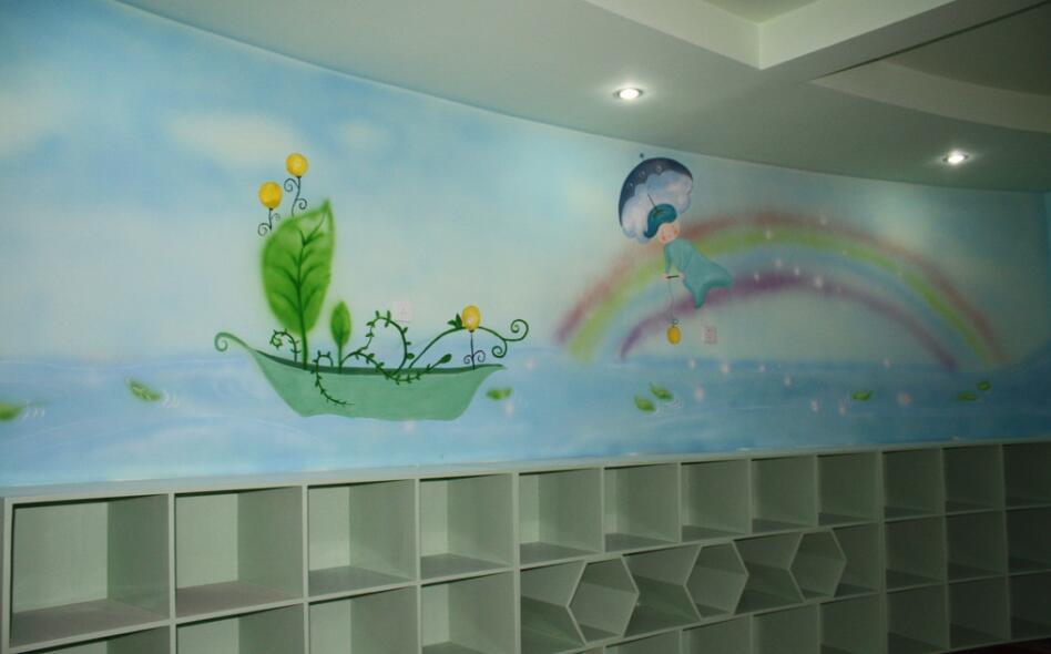 小清新幼儿园室内手绘墙主题素材