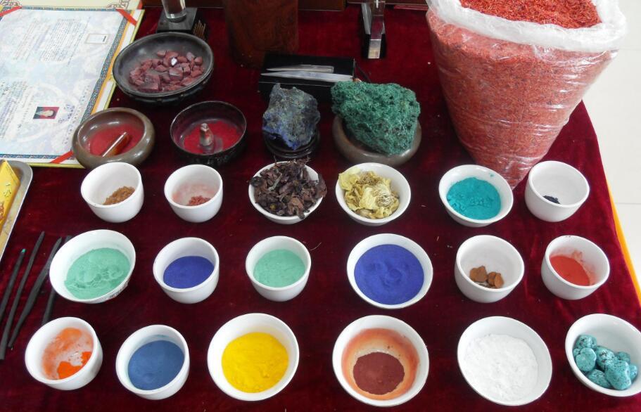 古代矿物质绘画颜料