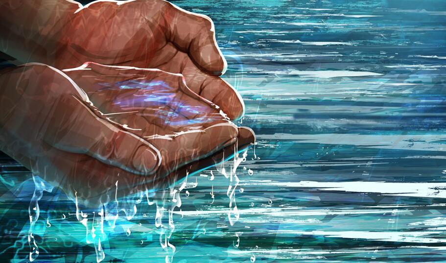 浅谈水景画的色彩和画法
