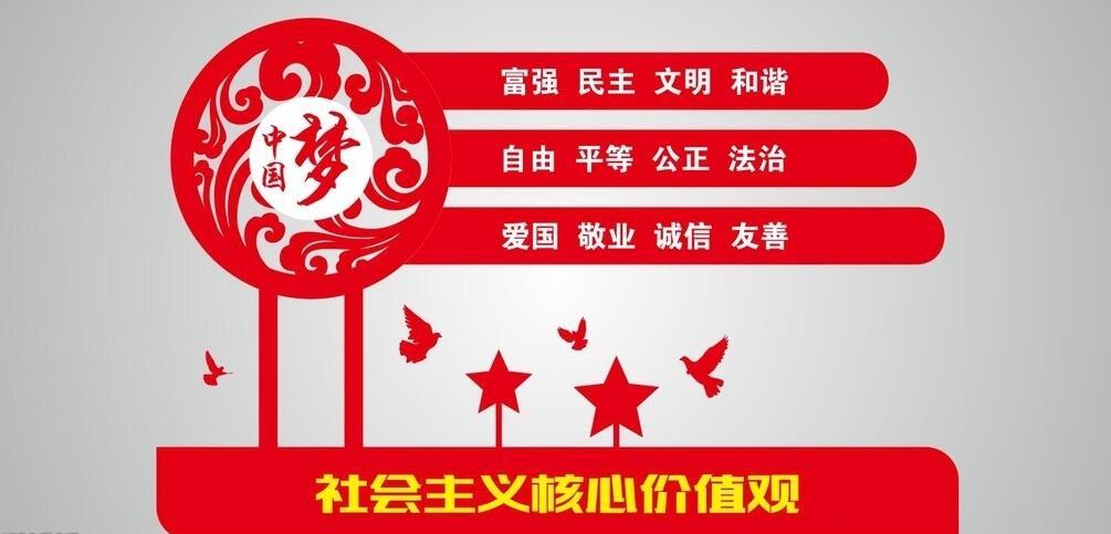 新农村社会主义核心价值观党建墙绘素材