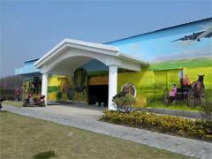 田园风光蔬菜瓜果壁画墙绘