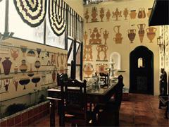 赣州手绘墙:赣州餐厅复古壁画墙绘