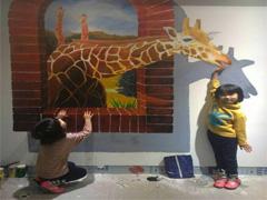 赣州墙绘公司:赣州幼儿园室内手绘3D立体画