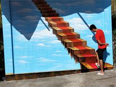 赣州墙绘公司:赣州室内3D立体画