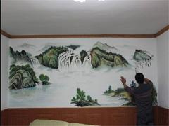 中国风酒店墙体彩绘
