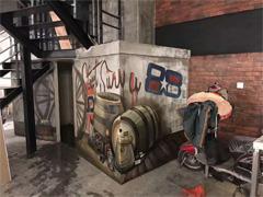 赣州墙绘公司:楼梯3D立体画赣州墙绘