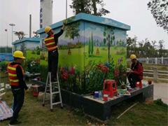 赣州墙绘公司:配电箱赣州手绘墙壁画美化