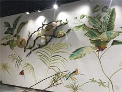 赣州奶茶店墙体彩绘