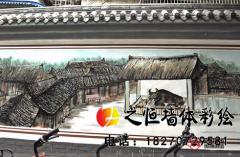 """弘扬中华传统文化,75岁老人墙绘""""清明上河图"""""""