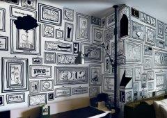 咖啡厅里墙体彩绘的艺术