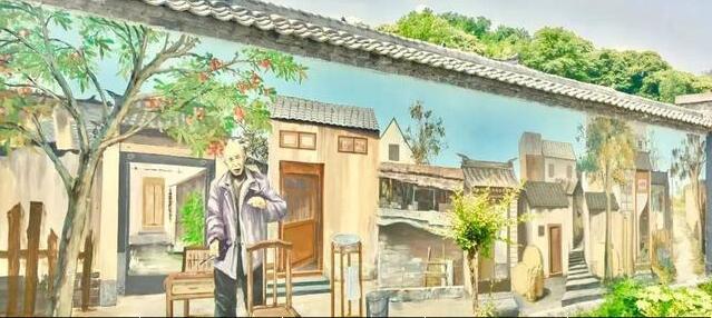 乡村墙绘主题:农家小巷