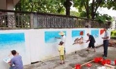 这样的墙绘为环境增添一份绚丽色彩