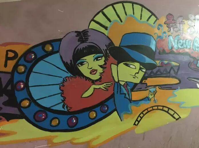 墙体彩绘型墙绘用的材料