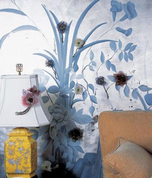 居家墙绘花的素材