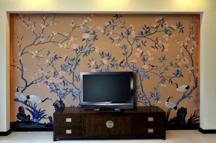 居家大气电视背景墙绘