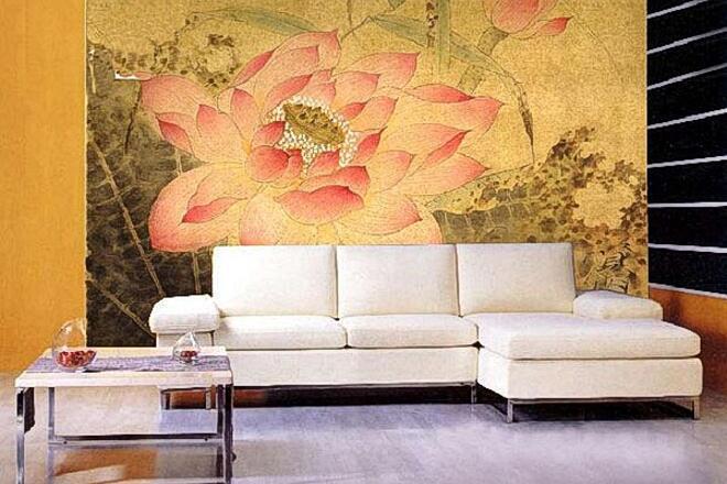 古色古香沙发墙绘