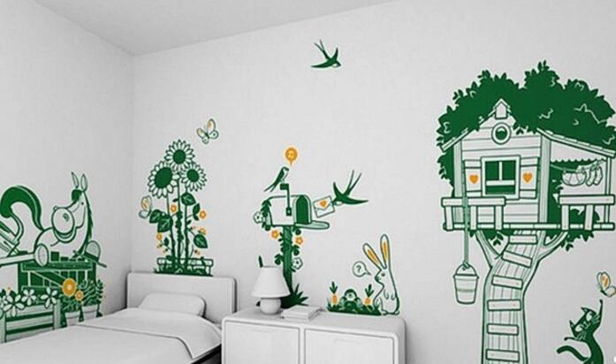 超美效果居家墙绘