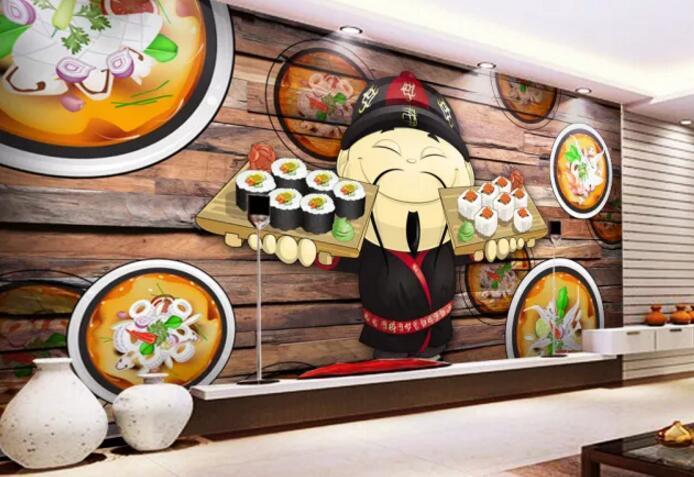 欧式餐厅墙绘展示