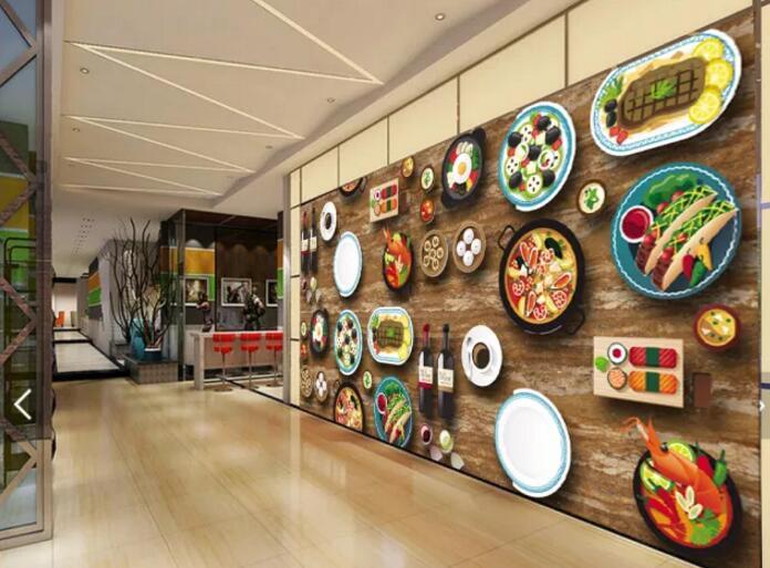 居家餐厅墙绘