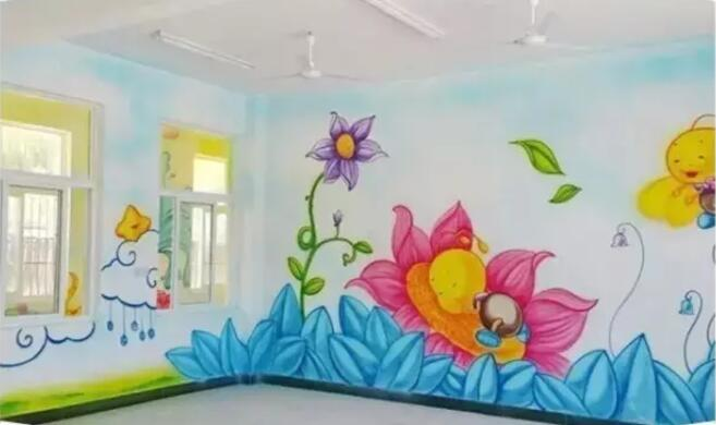 绚丽创意手绘墙