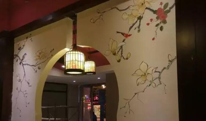 中式创意手绘墙