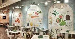 这种餐厅墙绘装修的方式居然为老板节省这么多