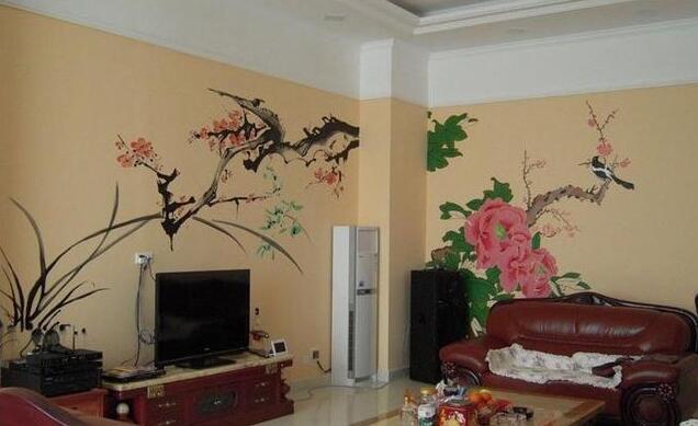 中式客厅手绘墙