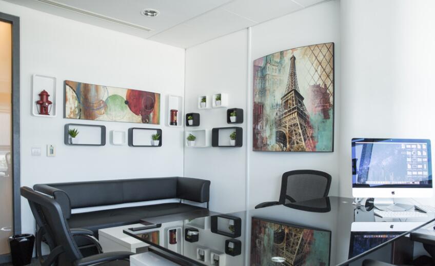 日系风格办公室墙绘