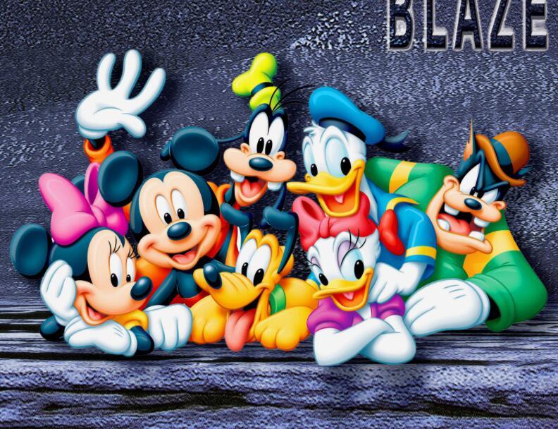 米老鼠卡通系列墙绘