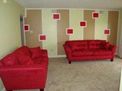 墙绘艺术和家具的搭配