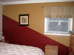 别具一格的墙绘理念:双色对角线