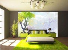 增强室内生机,怎么少得了这样的树墙绘?