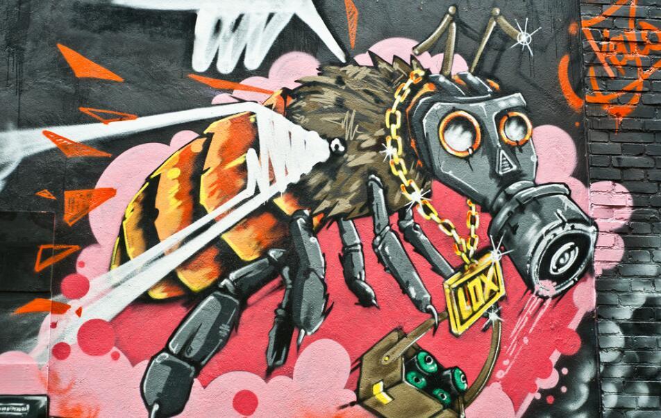 印象派喷绘涂鸦墙绘