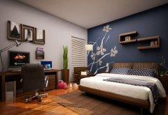卧室的墙绘观念是强调整面墙吗?