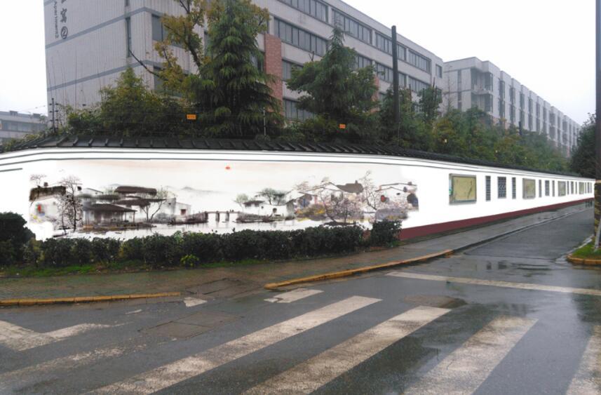 市内围墙墙绘成品欣赏