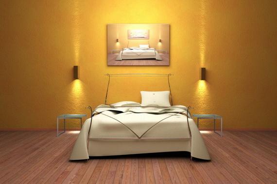 米黄色墙绘