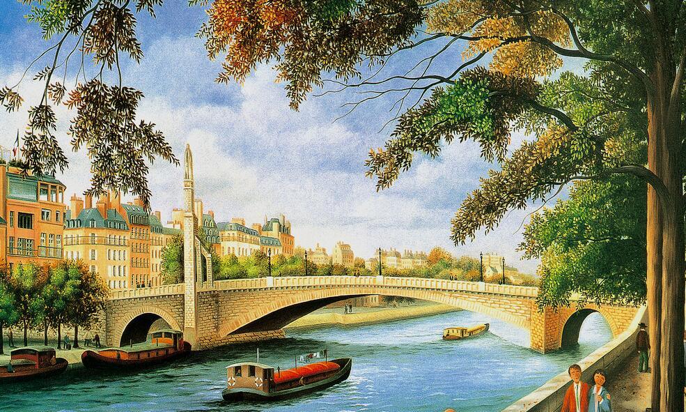 19世纪风景墙绘