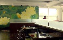 看到这样的饭店墙绘为什么会食欲大增?