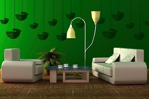 简约风格室内手绘墙成品展示