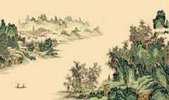 中国风之山水墙绘